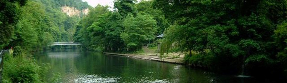 River walks at Matlock Bath, Derbyshire